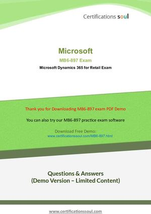 Mb6 897 Practice Exam Questions