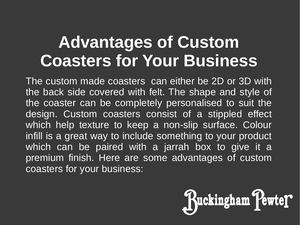 Advantages of Custom Coasters for Your Business