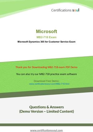 Mb2 718 Practice Exam Questions