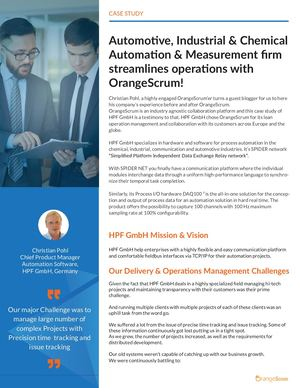 Automotive, Industrial, Chemical Automation and Measurement firm streamlines operations with OrangeScrum