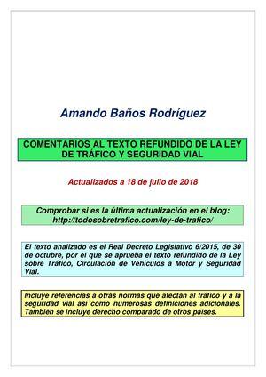 Calaméo - Ley De Trafico Comentada 18 07 2018