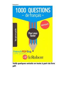 Calameo 1000 Questions De Francais Pour Vous Tester