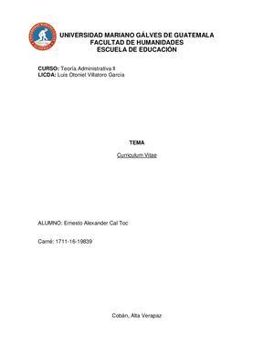Calameo Curriculum Vitae Ernesto