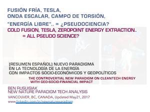 Calaméo - Fusión Fría, Tesla, Onda Escalar, Campo de Torsión