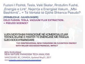 Calaméo - Fuzioni i ftohtë, Tesla, Valë Skalar, Rrotullim