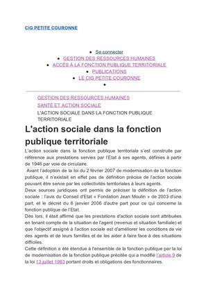 4656d6a8cb1 L action Sociale Dans La Fonction Publique Territoriale Cig Petite Couronne