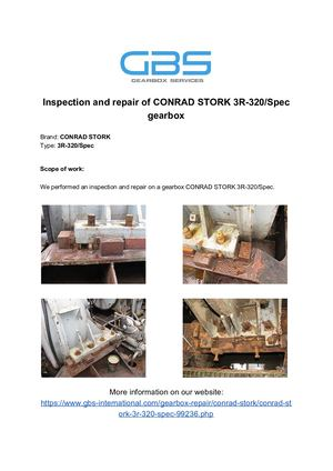 Inspection And Repair Of CONRAD STORK 3R 320%2FSpec Gearbox