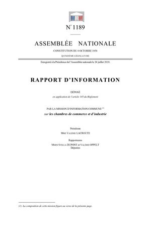 An Rapport Information1189 Mission Information Commune Cci