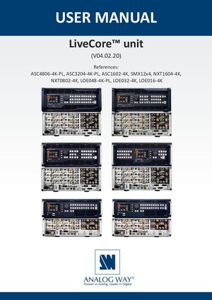 Livecore Unit User Manual Uk