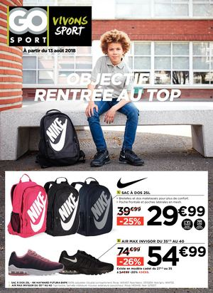 GO SPORT - CATALOGUE RENTREE 2 AFFILIES