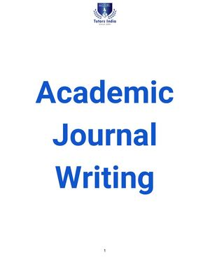 Academic Journal Writing