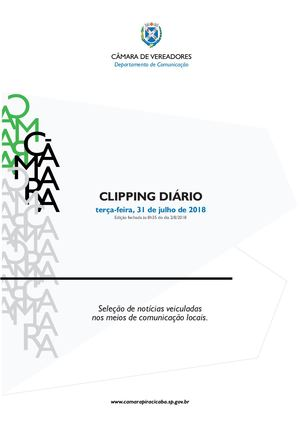 31/7/2018 - Clipping Câmara de Piracicaba