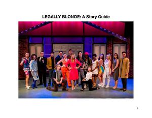 Legally Blonde Story Guide