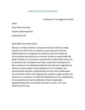 Calameo Carta De Solicitud De Empleo