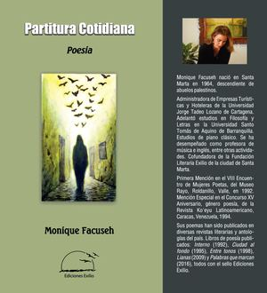 Partitura Cotidiana. Poemas. Monique Facuseh