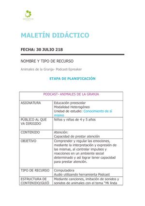 MALETIN DIDACTICO PODCAST