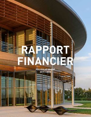 Rapport Financier 2017/2018 Groupe Poujoulat