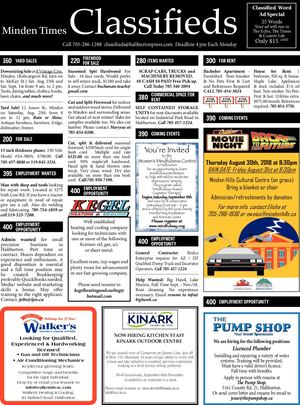 Classifieds August 23, 2018