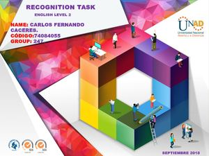 Task 1 –Recognition task forum – Task 2 Pre-knowledge task Carlos Fernando Caceres