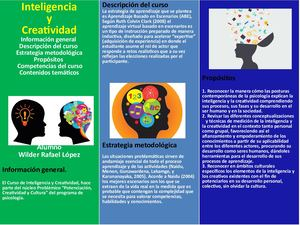 Folleto Promocional Inteligencia Y Creatividad