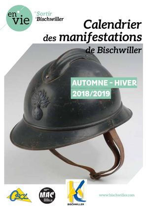 Calendrier manifestations automne-hiver 2019
