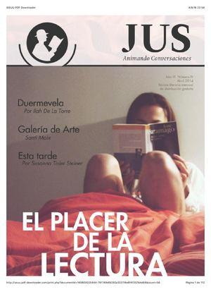 El Placer De La Lectura en Revista Jus