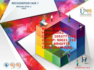 Recognition Task 1