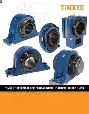 Timken Spherical Roller Bearing Solid Block Housed Units Supporti Cuscinetti Rulli A Botte En 10785