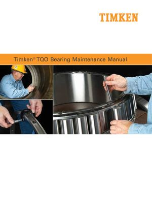 Timken Tqo Bearing Maintenance Manual Manutenzione En 7010