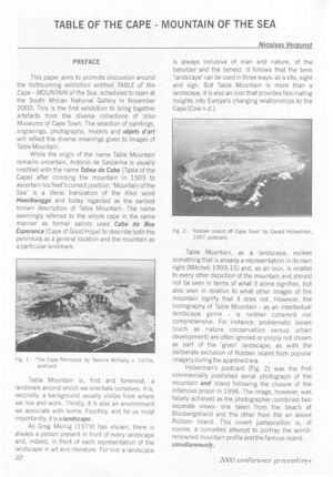 Vergunst Table of The Cape -mountain of the sea: heritage, the environment and (bio)diversity, Samab V25 N2 A8
