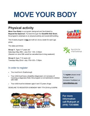 Good Life Kids Move Your Body Booklet