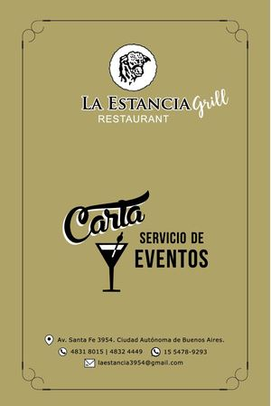 Menús Eventos La Estancia Grill Sep 2018