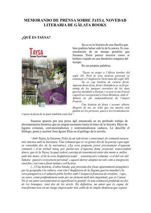 Dossier Taysa Llibreria Carme