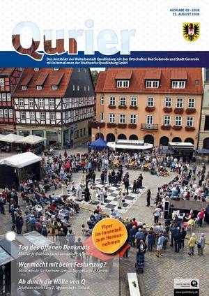 Qurier 09/2018 Vom 25.08.2018   Das Amtsblatt Der Welterbestadt Quedlinburg  Mit Den