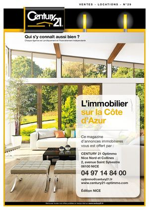 CENTURY 21 N°29 - OPTIMMO NICE NORD ET COLLINES