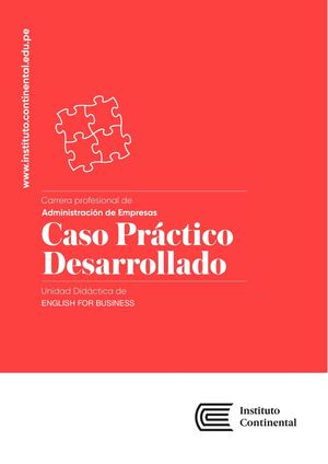 Caso Práctico Desarrollado S2 English For Business