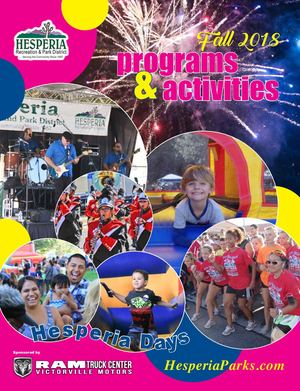 Hesperia Parks Fall 2018 Programs and Activities Guide