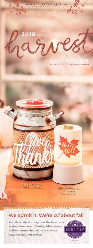 The Harvest Collection - Scentsy 2018