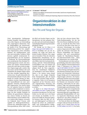 02 Editorial Organinteraktionen In Der Intensivmedizin