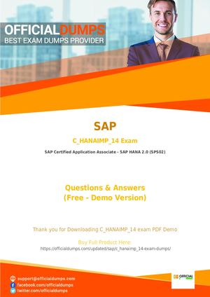 Calaméo - SAP C_HANAIMP_14 Dumps - SAP C_HANAIMP_14 PDF Questions