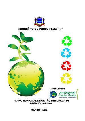 4398833e5d9dd Porto Feliz Plano Municipal De Gestão Integrada De Resíduos Sólidos porto  Feliz