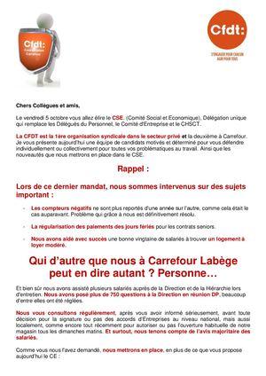 Accord De Mise En Place Du Cse Cfdt