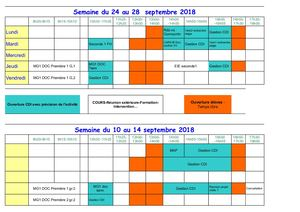 Planning Ouverture Cdi 2018 2019