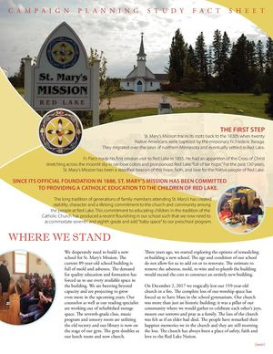 St. Mary's Mission Fact Sheet