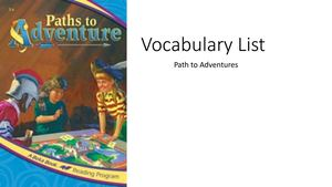 Vocabulary List Path To Adventure Review