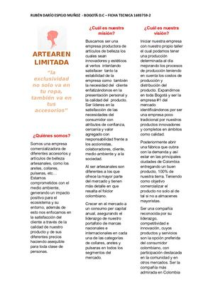 Folleto Artearen Limitada