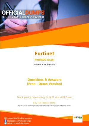 Fortinet FortiADC Dumps - Fortinet FortiADC PDF Questions and Answers | 2018 Updated By OfficialDumps