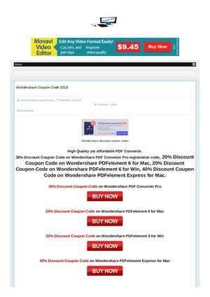 Wondershare Discount Coupon Codes
