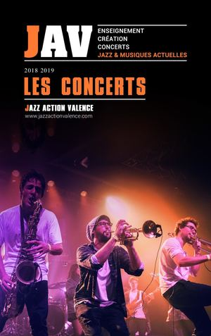 Jazz Action Valence - Brochure Concerts 2018-2019