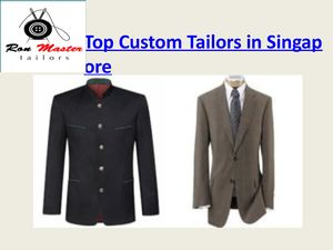 Top Custom Tailors In Singapore